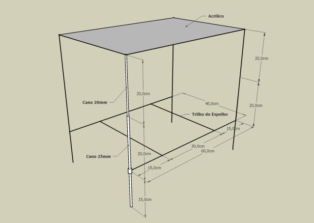 Futura estrutura de canos de PVC